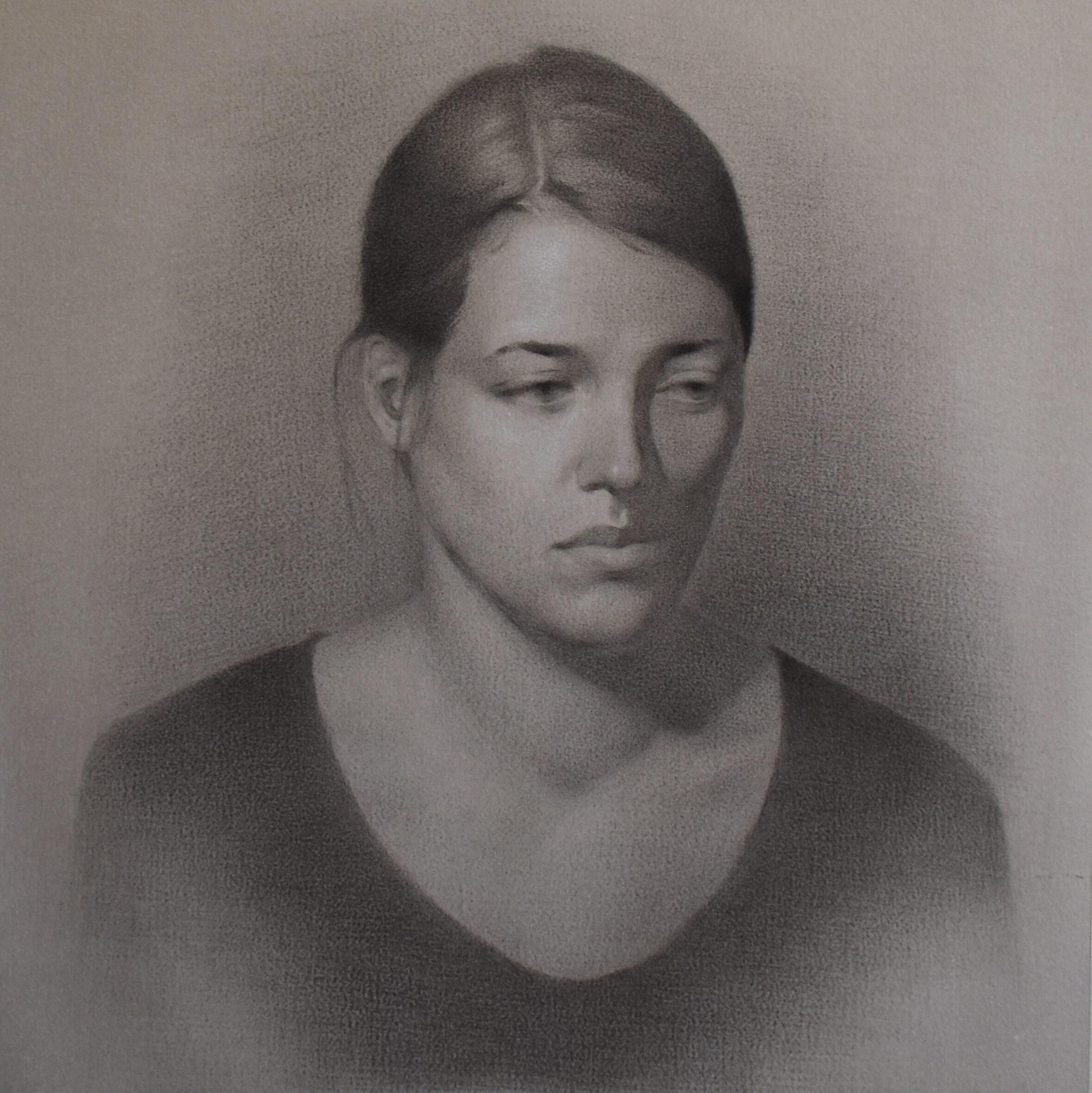 Portrait in Kohle